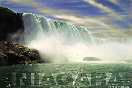 All images Copyright © 1997 - 2000 WriteLine. All Rights Reserved. Niagara Falls postcard