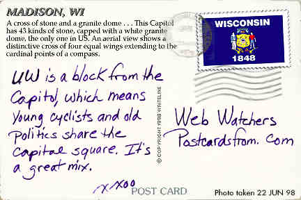 All images Copyright © 1997 - 2000 WriteLine. All Rights Reserved. Wisconsin flag stamp