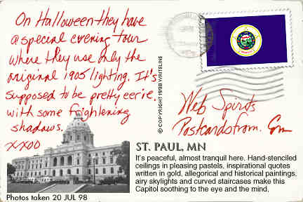 All images Copyright © 1997 - 2000 WriteLine. All Rights Reserved. Minnesota state flag stamp