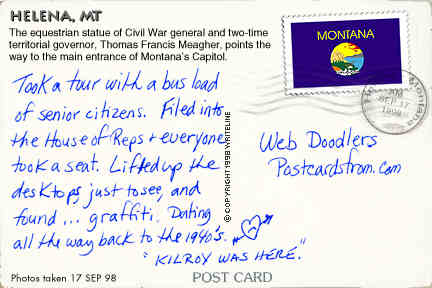 All images Copyright © 1997 - 2000 WriteLine. All Rights Reserved. Montana flag postage stamp