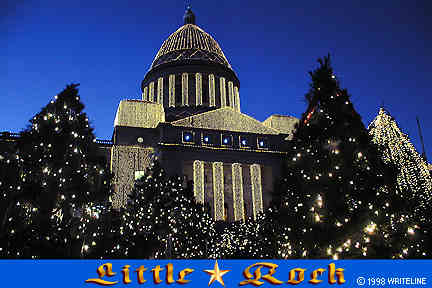 All images Copyright © 1997 - 2000 WriteLine. All Rights Reserved. Little Rock Capitol Christmas ights