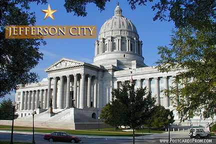 Jefferson City Missouri Capital Postcard