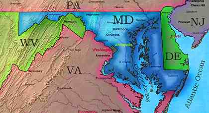 © 2000 WriteLine. Maryland map