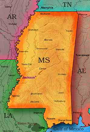 Mississippi Map - Missisippi map
