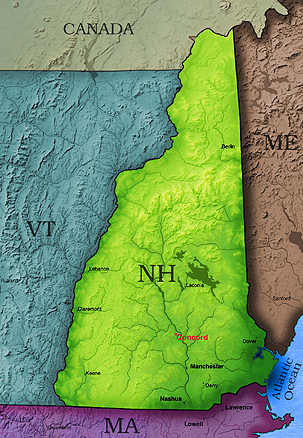 © 2005 WriteLine. New Hampshire Map