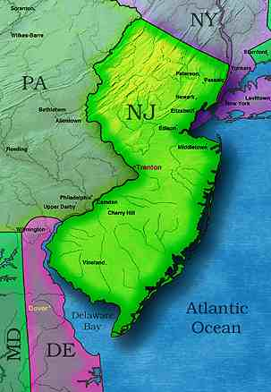 © 1999 WriteLine. New Jersey map
