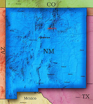 © 1998 WriteLine. New Mexico map