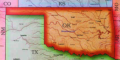 © 1998 WriteLine. Oklahoma map