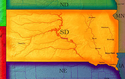 © 2005 WriteLine. South Dakota Map