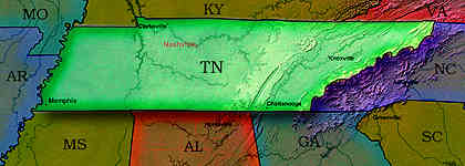 © 1999 WriteLine. Tennessee map