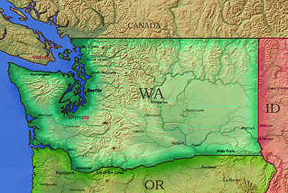 © 1998 WriteLine. Washington map