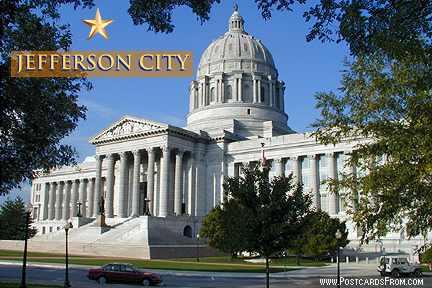 Jefferson City Missouri Capital Postcard