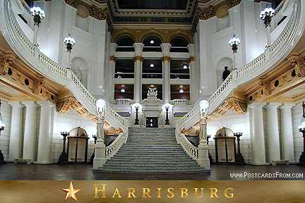 Grand Staircase State Capitol Harrisburg Pennsylvania Postcard